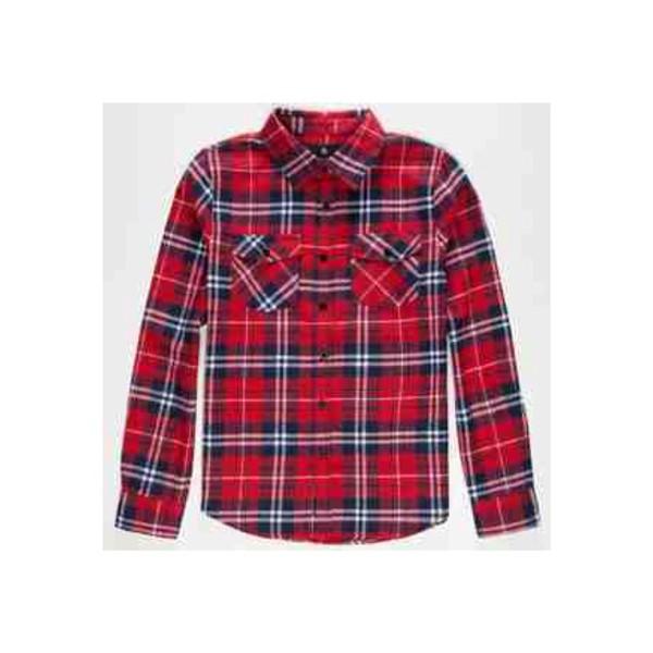 Shirt flannel red white blue plaid shirt cute for Red white and blue plaid shirt