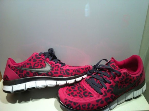 shoes nike nike running shoes nike free run leopard print