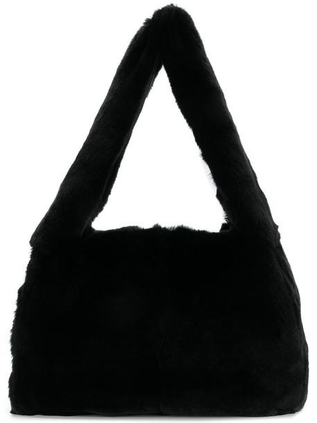 Miu Miu - fox fur tote bag - women - Fox Fur/Leather - One Size, Black, Fox Fur/Leather