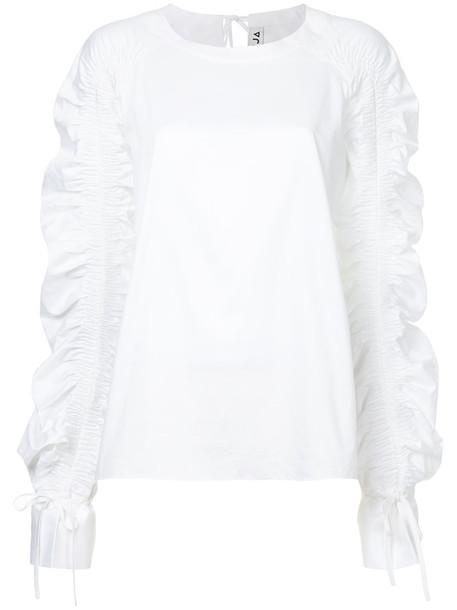 TEIJA top women white cotton