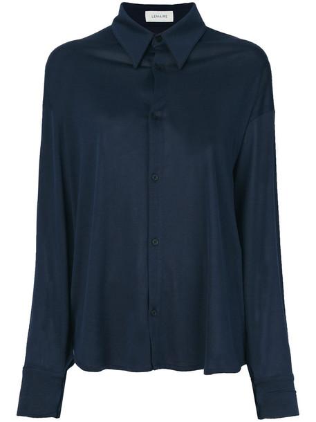 Lemaire shirt jersey shirt women cotton blue top