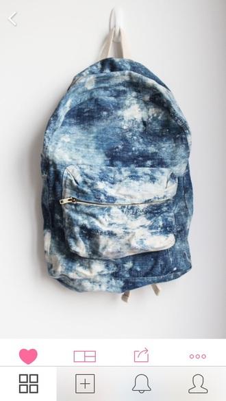 bag blue bag acid wash