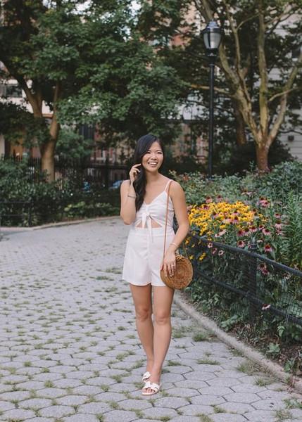 skirttherules blogger romper bag jewels shoes
