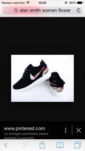 shoes flower nike shoes nike shoes womens roshe runs