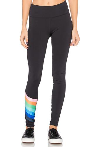 rainbow black pants