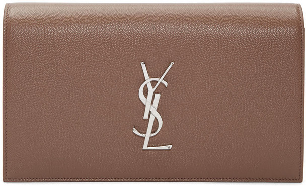 Saint Laurent clutch brown bag