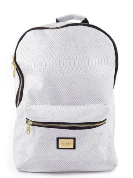 bag white bag bookbag backpack