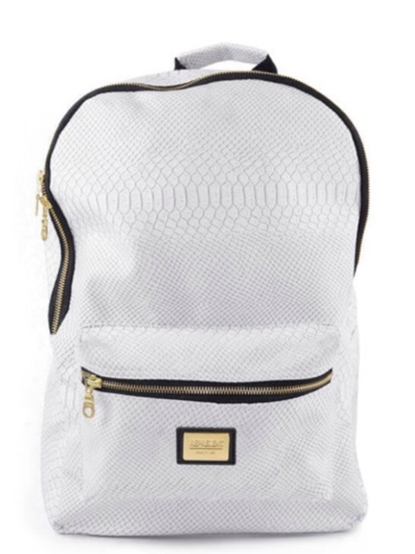 Bag: bookbag, white bag, backpack - Wheretoget