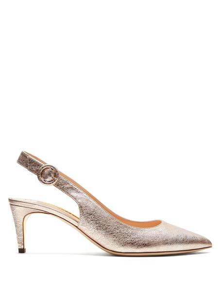 Rupert Sanderson pumps leather rose gold rose gold shoes