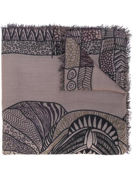 Hemisphere printed scarf - Brown