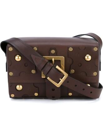 studded bag shoulder bag brown