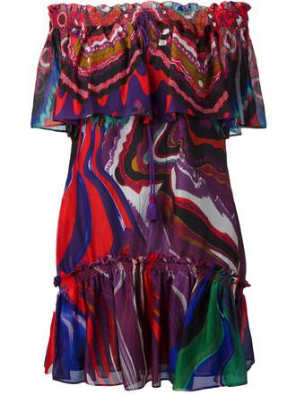 dress women print silk
