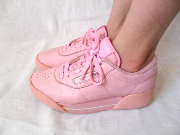 shoes-sneakers-reebok-90+s-1990s-1990-platform+sneakers-platform+shoes