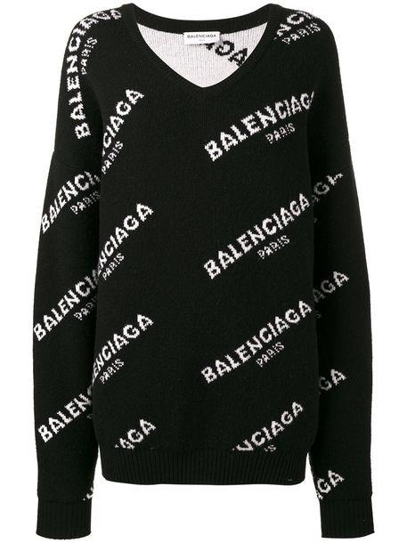 6407c3ee24b5 Balenciaga Balenciaga - logo jumper - women - Wool - 36