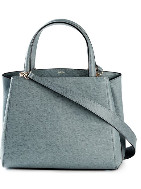 Valextra - small 'Triennale' tote - women - Calf Leather - One Size, Blue, Calf Leather