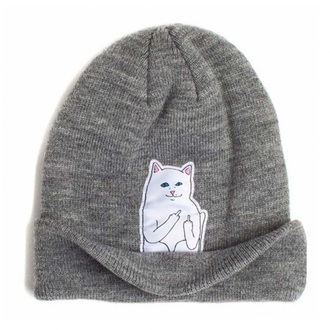 hat grey knitwear fashion style cool warm funny cats boogzel beanie