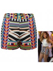 J lo multicolour aztec stripe shorts