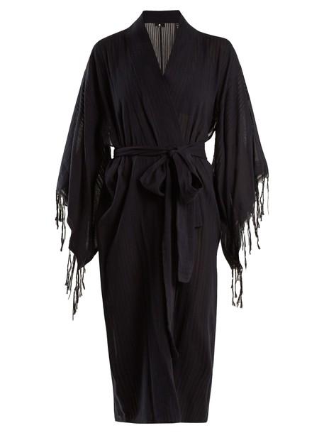 SU tassel cotton black swimwear