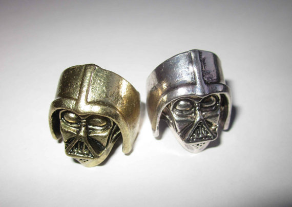 Darth vader star wars ring silver bronze by mustheaven on etsy