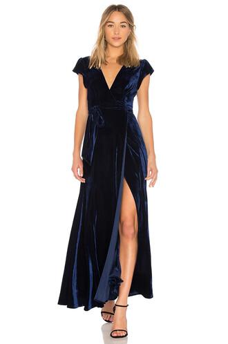 dress wrap dress blue