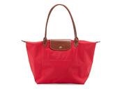 bag,red bag,red,red tote bag,tote bag,longchamp le pliage