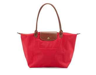 bag red bag red red tote bag tote bag longchamp le pliage