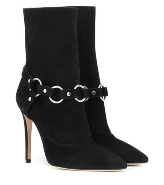 Altuzarra Davidson 105 suede ankle boots in black
