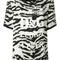 Dolce & gabbana - zebra print t-shirt - women - silk - 42, black, silk