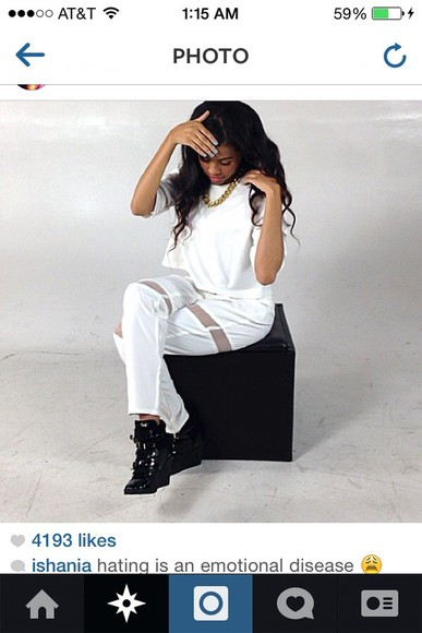 beauty jewels shirt blouse ishania @ishania bow down instagram all white photoshoot pants