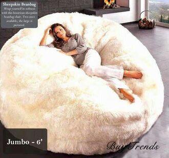 home accessory bean bag fluffy cozy
