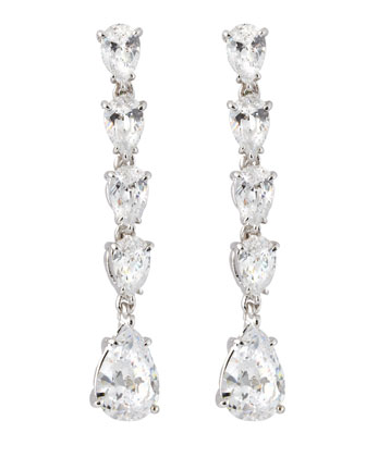 Fantasia Tiny Tiered Pear-Drop Earrings