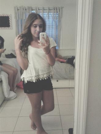 shorts black shorts cute shirt