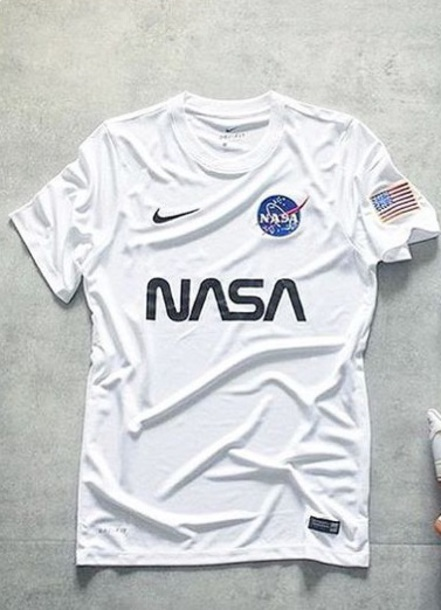 shirt white t-shirt nike nasa american flag