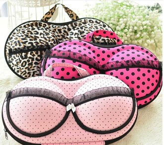 bag handbag bra bag pink bag polka dots animal print