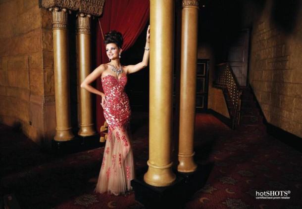 dress prom dress red dress red prom dress nude dress