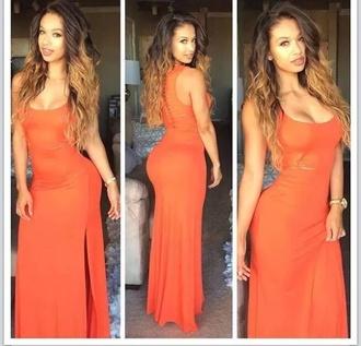 orange dress orange orange maxi orange maxi dress maxi maxi dress dress long dress