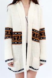 aztec,oversized,wool,brown sweater,white sweater,black sweater,sweater