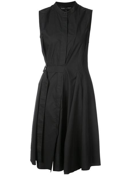 dress shirt dress sleeveless women cotton black