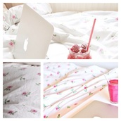 home accessory,white,pink,home decor,bedroom,bedding,sheets,flowers,tumblr,room accessoires