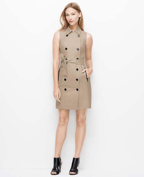 Slvls Society Twill Trench Dress