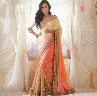 dress indian dress goldpinke