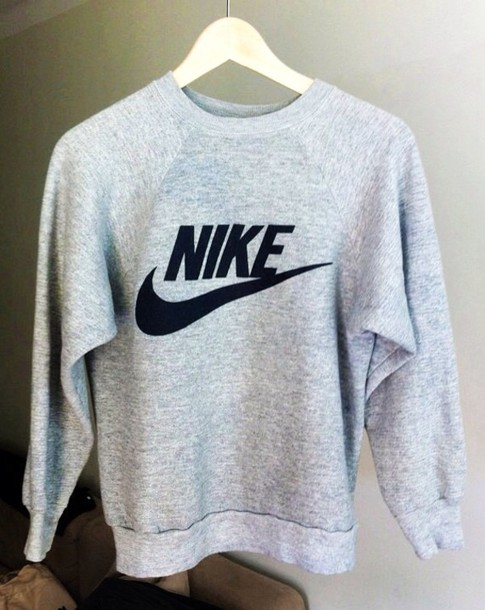 Grise Nike Grey Gray Sweat Sweater 0Yw0B