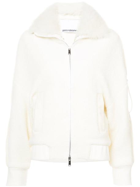 coat fur women white wool
