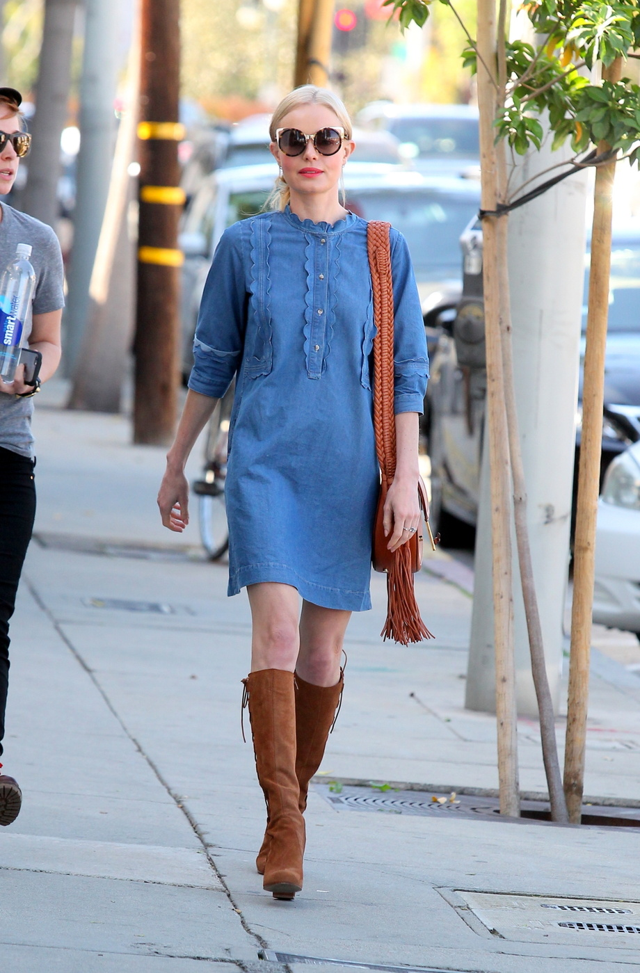 3b1c38c681b Western Bohemian: Kate Bosworth's Denim and Suede Look for Less