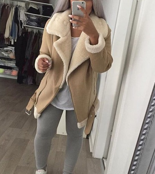 bb8e0843 coat zara brown leather winter outfits winter coat fashion zara coat 2015  jacket beige winter outfits