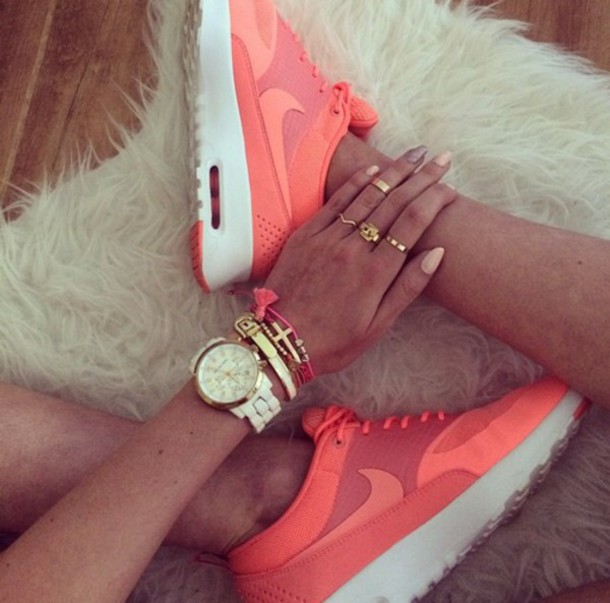 shoes orange air max