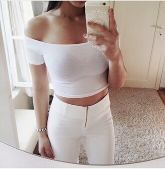 jeans white gold zip pretty top