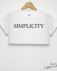Simplicity crop top t shirt