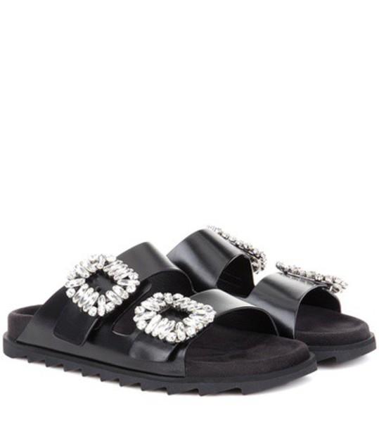 Roger Vivier sandals leather sandals leather black shoes