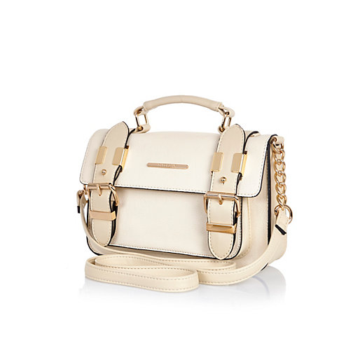 White mini satchel bag